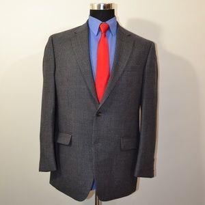 Ralph Lauren 40R Sport Coat Blazer Suit Jacket Blu